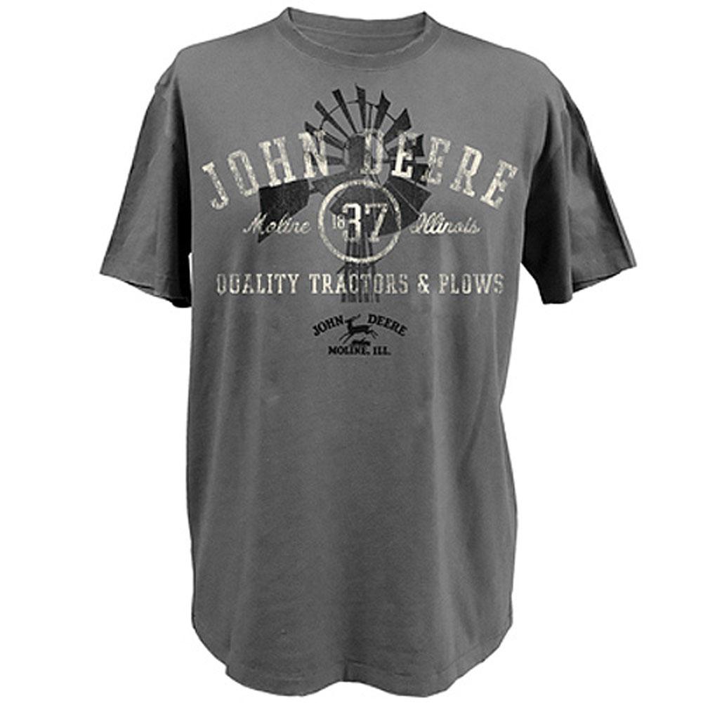 John Deere Windmill Distressed Vintage T-Shirt