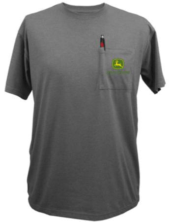 John Deere Gray Pocket Logo T-Shirt
