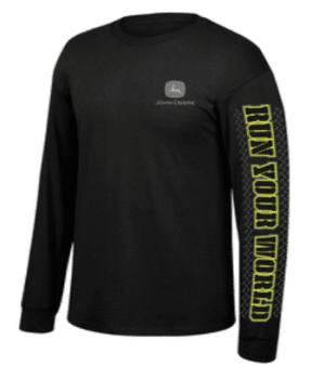 John Deere Run Your World Long Sleeve T-Shirt