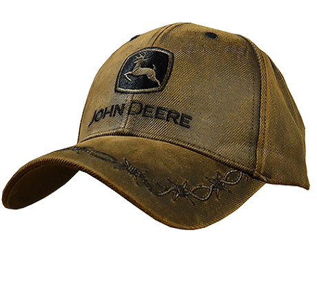 John Deere Oilskin Baseball Cap