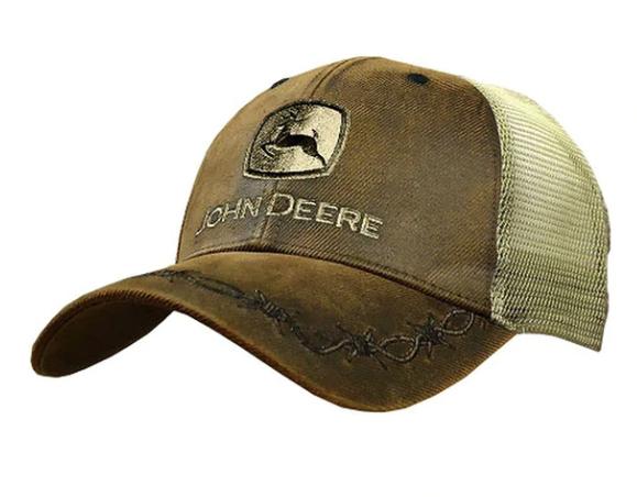 John Deere Oil Skin Mesh Cap