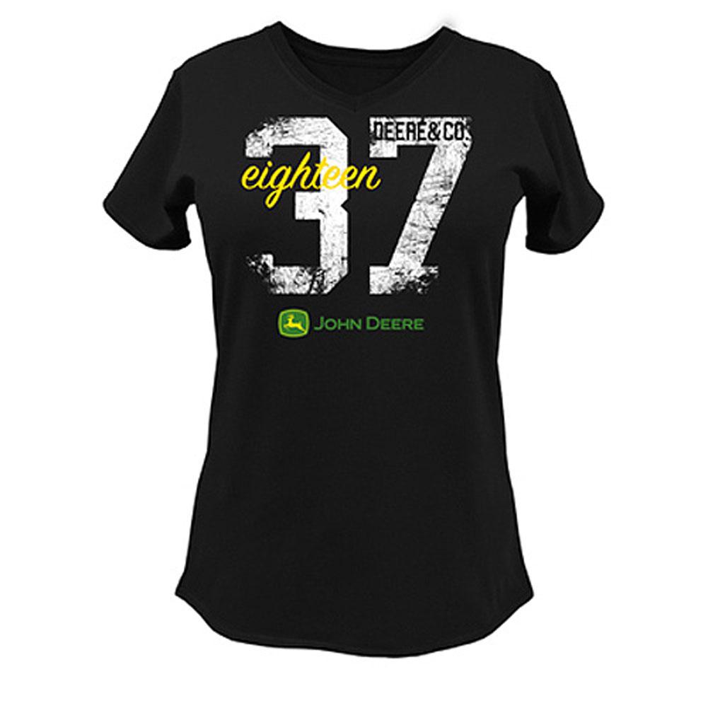 John Deere 1837 V-Neck T-Shirt