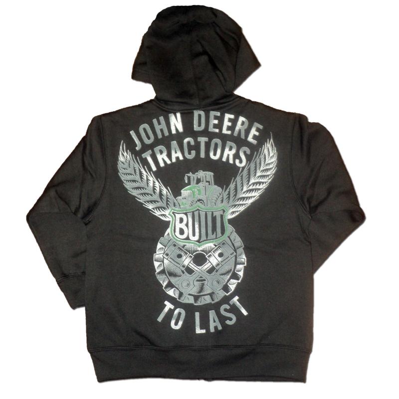 John Deere Built To Last Zip-Up Hoodie