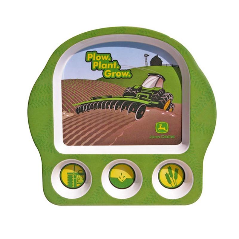 John Deere Plow Plant Grow Plate