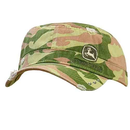 John Deere Canvas Military Cap