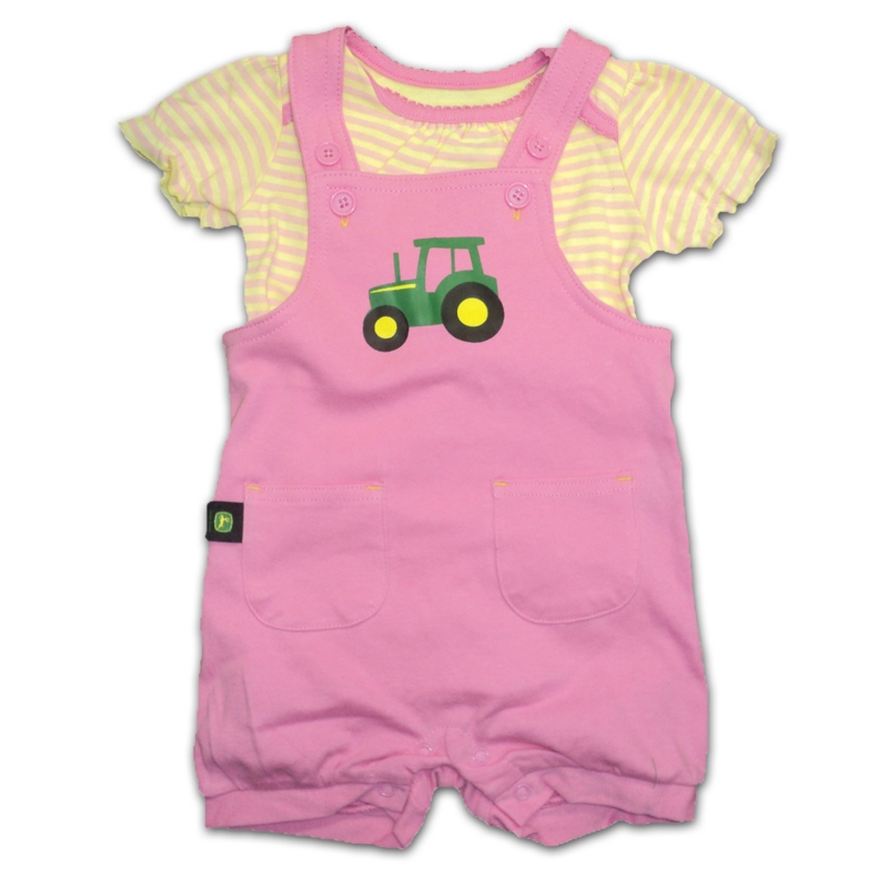 John Deere Onesie And Shortall Set