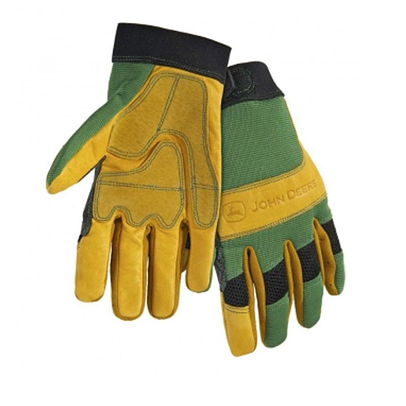 John Deere Cowhide Spandex Back Glove