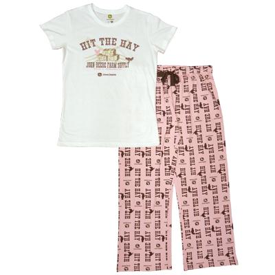 John Deere Hit The Hay Pajamas