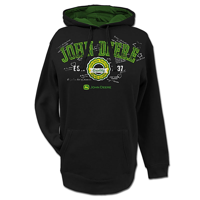 John Deere Handwritten Notes Hoodie