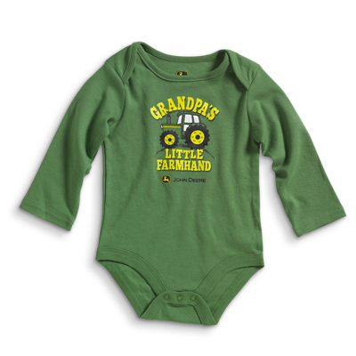 John Deere Grandpa's Little Farm Hand Long Sleeve Onesie