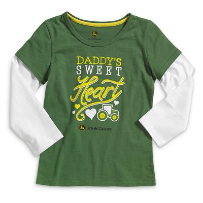 John Deere Daddy's Sweet Heart Long Sleeve T-Shirt