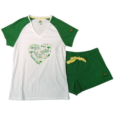 John Deere Word Heart Pajamas