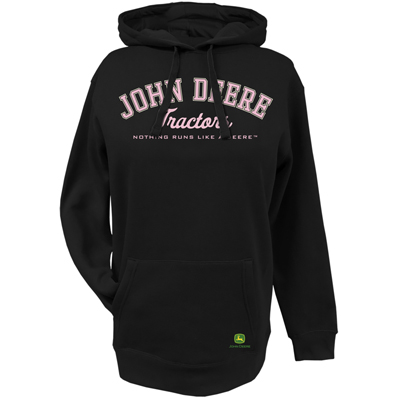 John Deere Glitter Tractors Hoodie