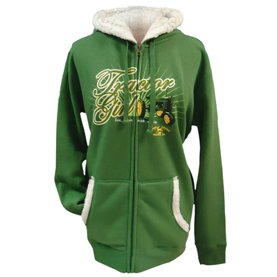 John Deere Tractor Girl Zip Up Hoodie