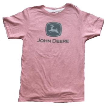 John Deere Toddler Pink Logo T-Shirt
