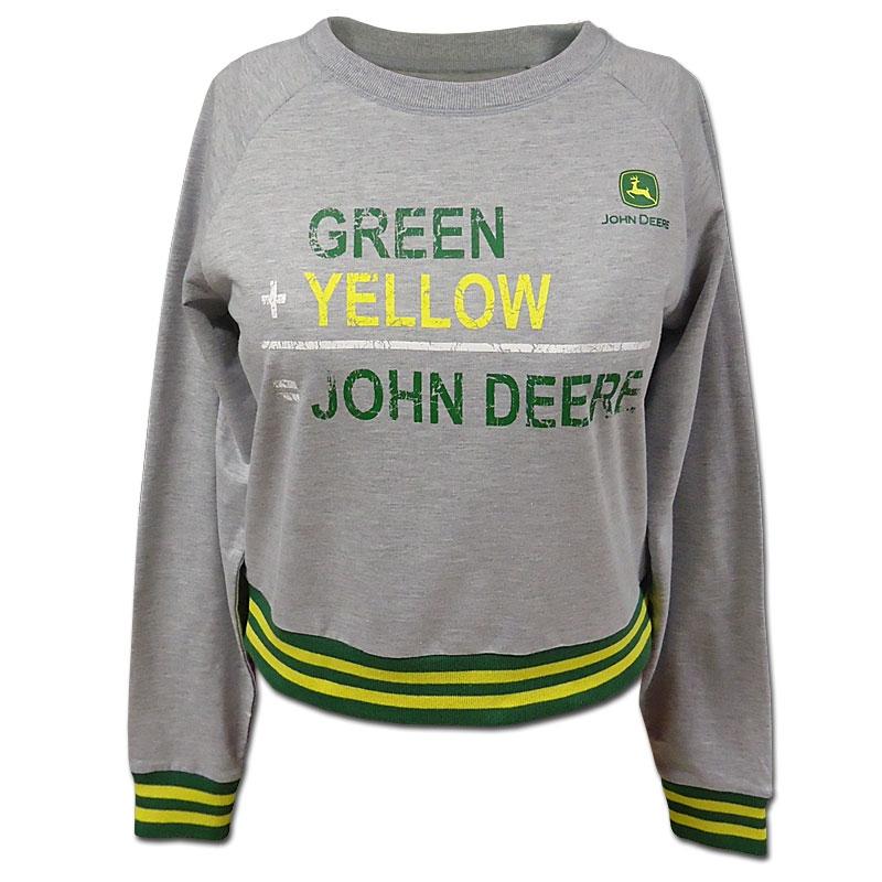 John Deere Green Plus Yellow Sweatshirt