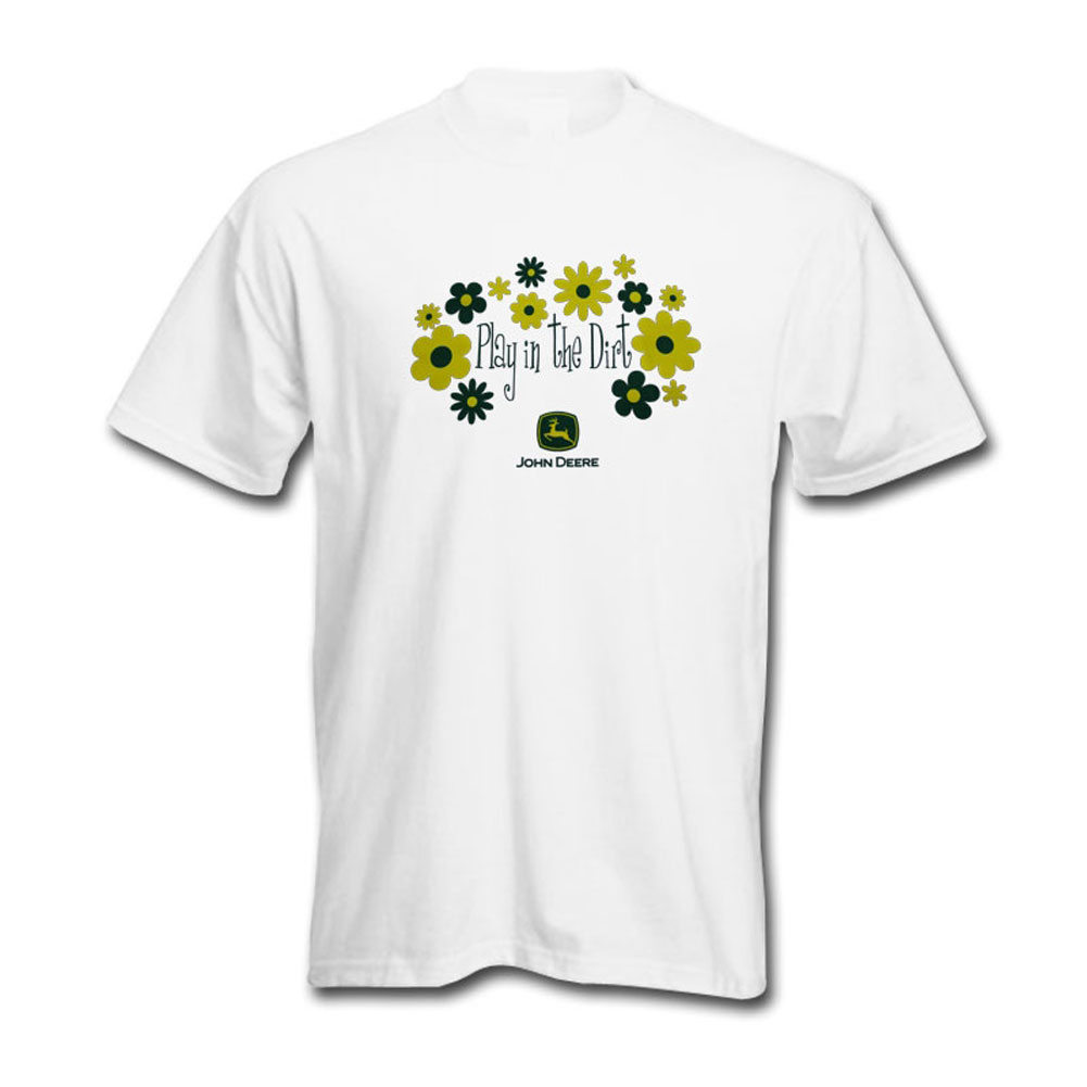 John Deere Play In The Dirt Flowers T-Shirt
