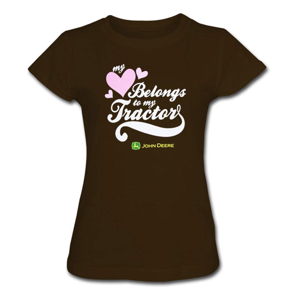 John Deere My Heart Belongs To My Tractor T-Shirt