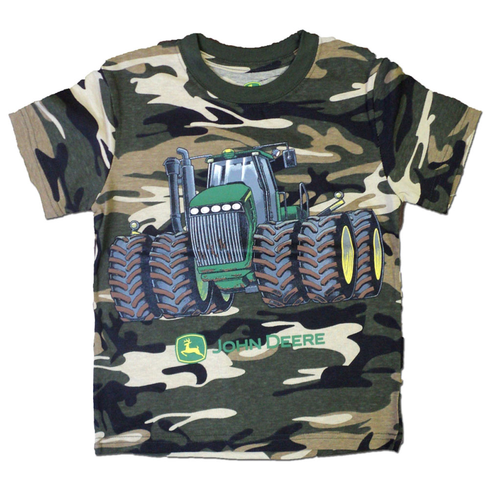 John Deere Dual Wheel Tractor T-Shirt