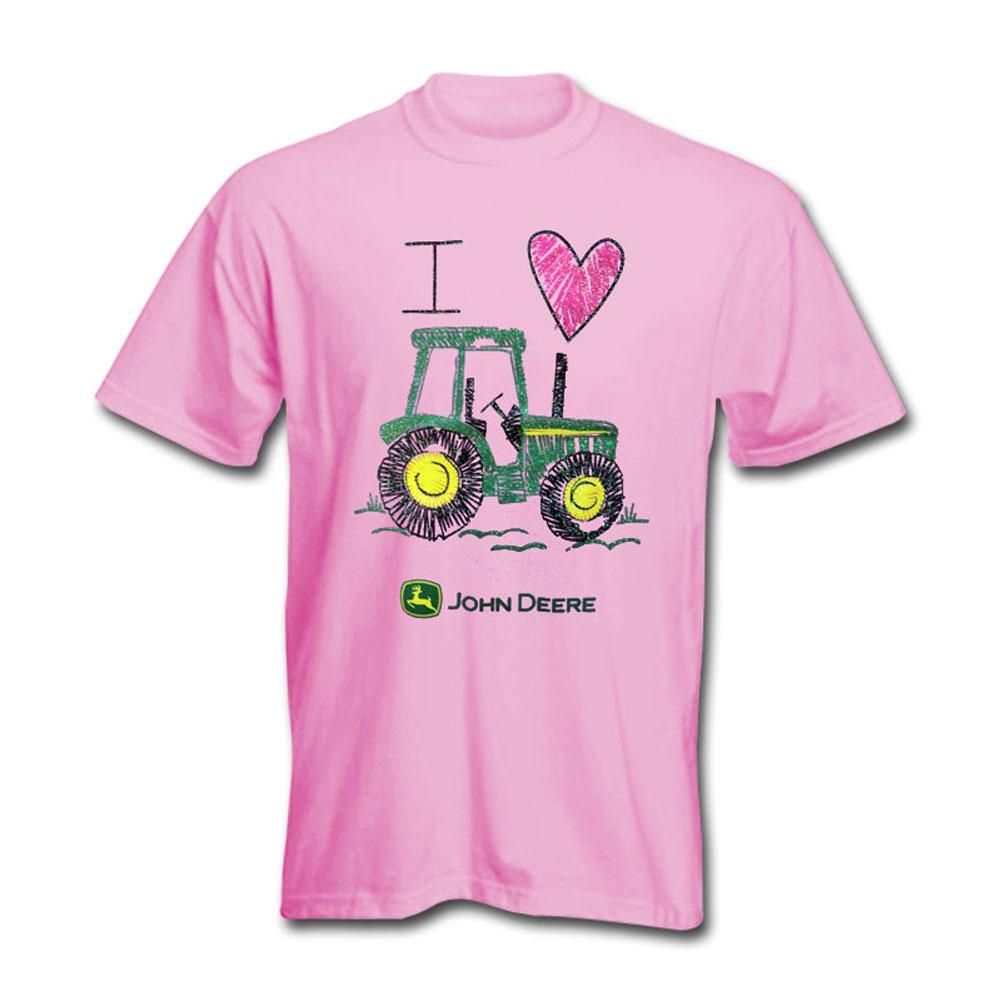 John Deere I Heart Tractor T-Shirt